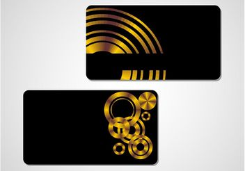 Stylish Golden Vectors - Free vector #158983