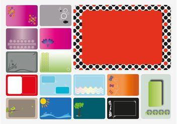 Cards Vectors - vector gratuit #159093
