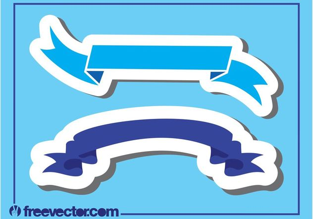 Blue Ribbon Banners - Free vector #159123