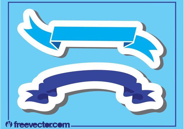 Blue Ribbon Banners - vector #159123 gratis