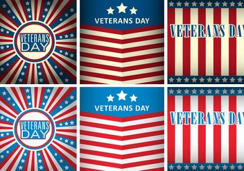 Veterans Day Vector Templates - Free vector #159173