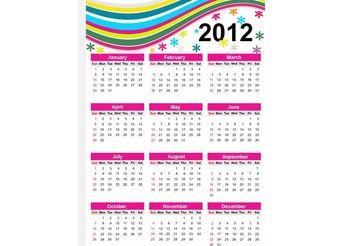 Calendar Grid - Free vector #159243