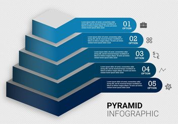 Free Pyramid Chart Vector - Free vector #159473