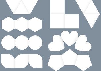 Creative Folded Brochures - vector gratuit #159493