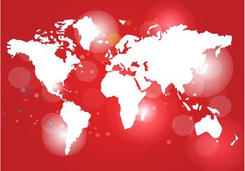Red World Map Vector - vector #159553 gratis