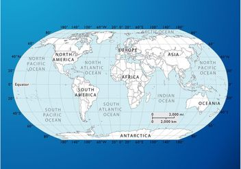 World Map Graphics - бесплатный vector #159563