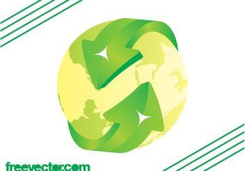 Eco Globe Vector - Free vector #159683
