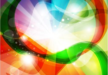 Rainbow Swirls - vector gratuit #159793