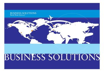 Corporate World Background Template - Free vector #159933
