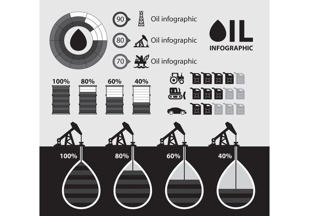 Oil Infographic Vector - Free vector #159953