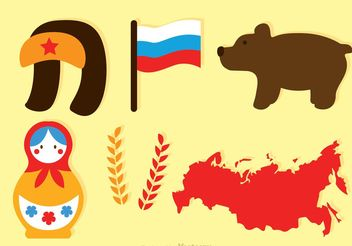 Flat Russian Vector Icons - Free vector #159973