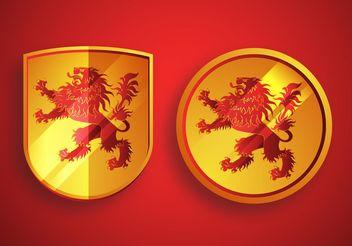 Heraldic Lion Vectors - Free vector #160033