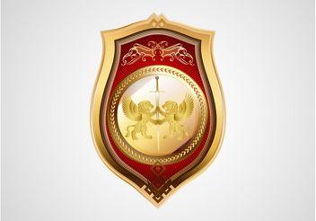 Heraldic Badge Vector - Free vector #160103
