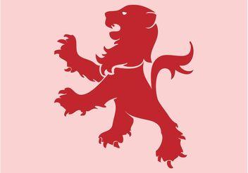 Lion Heraldry - Free vector #160163