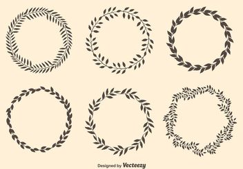 Laurel Circle Wreaths - vector gratuit #160303