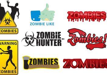 Vector Zombie Logos - Kostenloses vector #160323