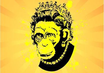 Monkey Queen - vector gratuit #160433