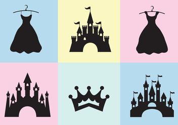 Princess Castle Vector Set - Free vector #160563