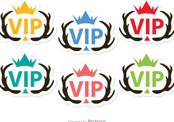 Antler VIP Icons Vector Pack - Free vector #160573