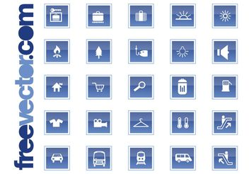 Travel And Transport Icons - vector #160773 gratis