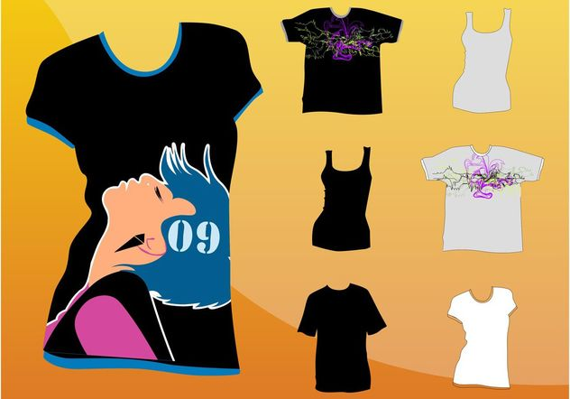 T-Shirt Graphics - vector #160833 gratis
