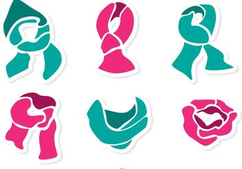 Set Of Neck Scarf Vector Pack 2 - vector gratuit #160873
