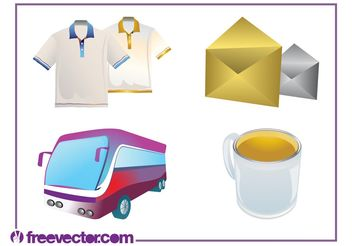 Everyday Objects Set - Free vector #160893