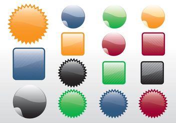 Free Design Stickers Vectors - Free vector #160953