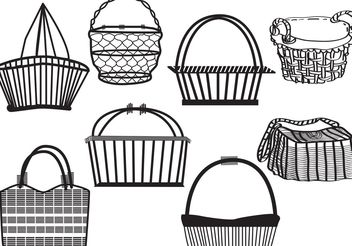 Old Basket Set - vector gratuit #161083
