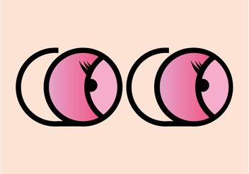 Cartoon Eyes Graphics - Kostenloses vector #161173