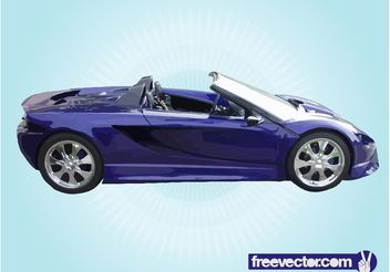 Blue Convertible Sports Car - vector gratuit #161253