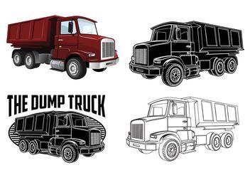 Dump Truck Vectors - Free vector #161413