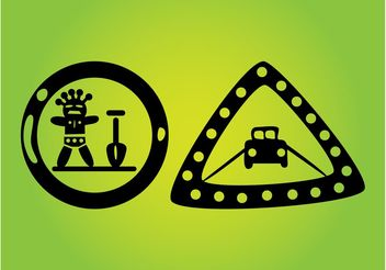 Road Signs - vector gratuit #161423