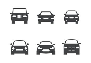 Black Car Front Silhouettes - бесплатный vector #161463