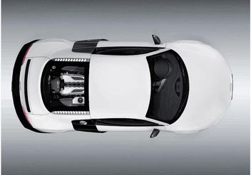 Audi R8 Top View - vector gratuit #161663