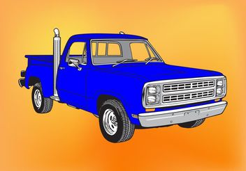 Pickup Truck - Free vector #161683