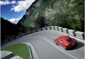 Driving Alfa Romeo Spider - vector #161723 gratis