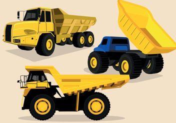 Dump Truck Vectors - Free vector #161783