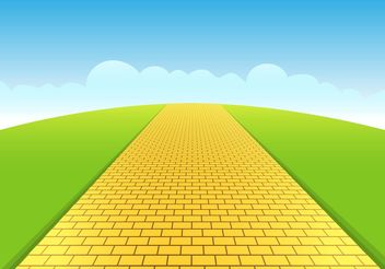 Yellow Brick Road Vector - vector #161813 gratis