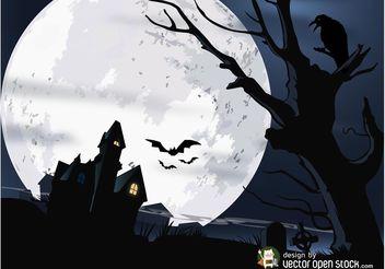 Halloween House Vector - Free vector #161863