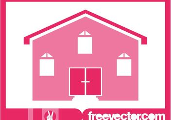 Pink House Icon - Free vector #161903