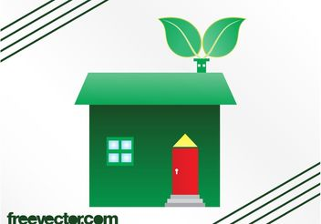 Eco House Graphics - Free vector #161913
