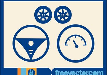 Drive Car Vectors - бесплатный vector #161953