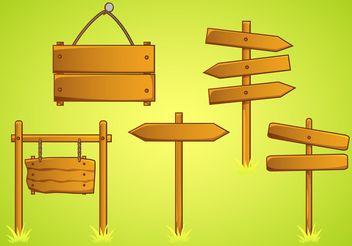 Rustic Sign Vectors - Free vector #162213