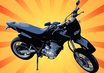 Motorcycle Vector Graphic - Kostenloses vector #162283