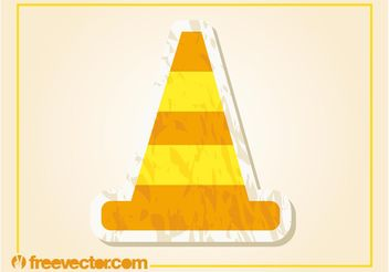 Traffic Cone Vector - vector gratuit #162293