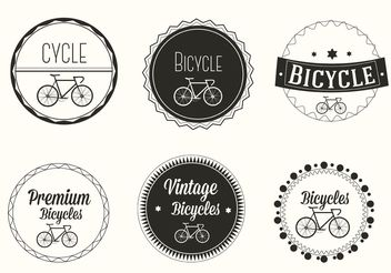 Free Vector Bicycle Labels - Kostenloses vector #162323