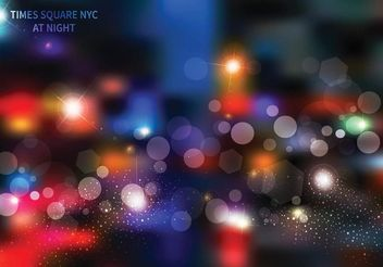 Free Times Square At Night Vector Background - бесплатный vector #162333