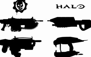 Halo, Gears Weapons - бесплатный vector #162393
