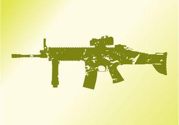 Silhouette Gun - vector gratuit #162443